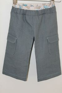 pantalon gris devant