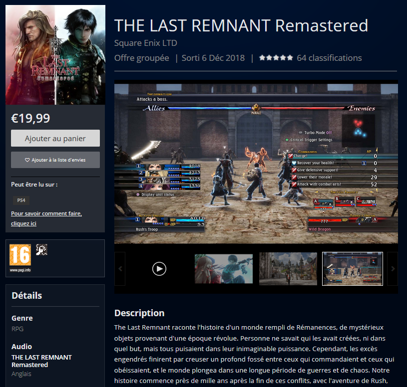 the last remnant remastered ps4