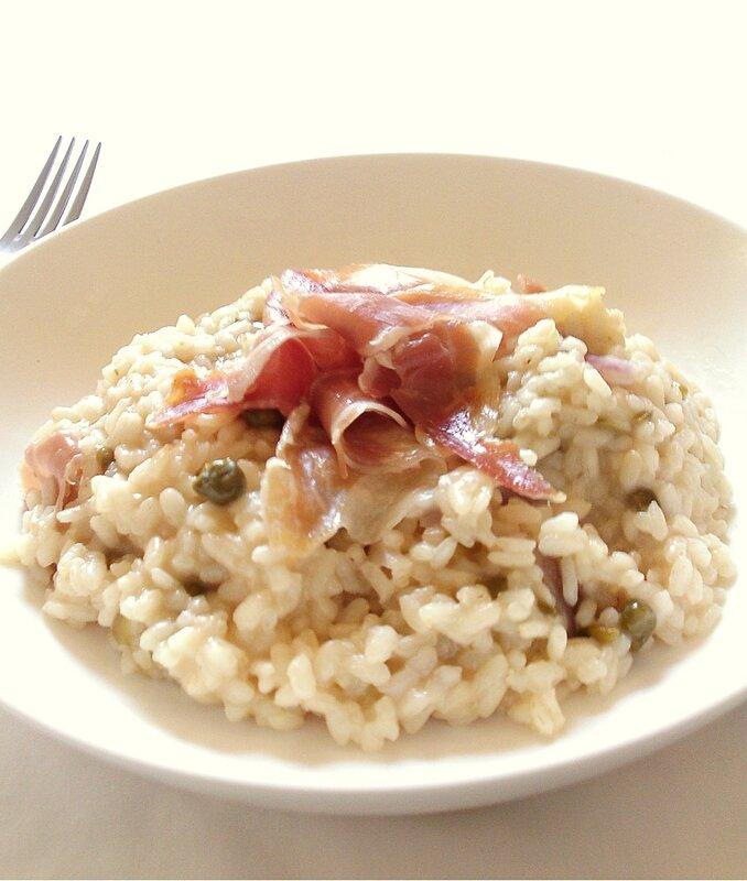 risotto aux câpres et au jambon cru2