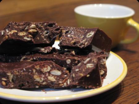 La tablette de chocolat aux graines rôties de Nolwenn
