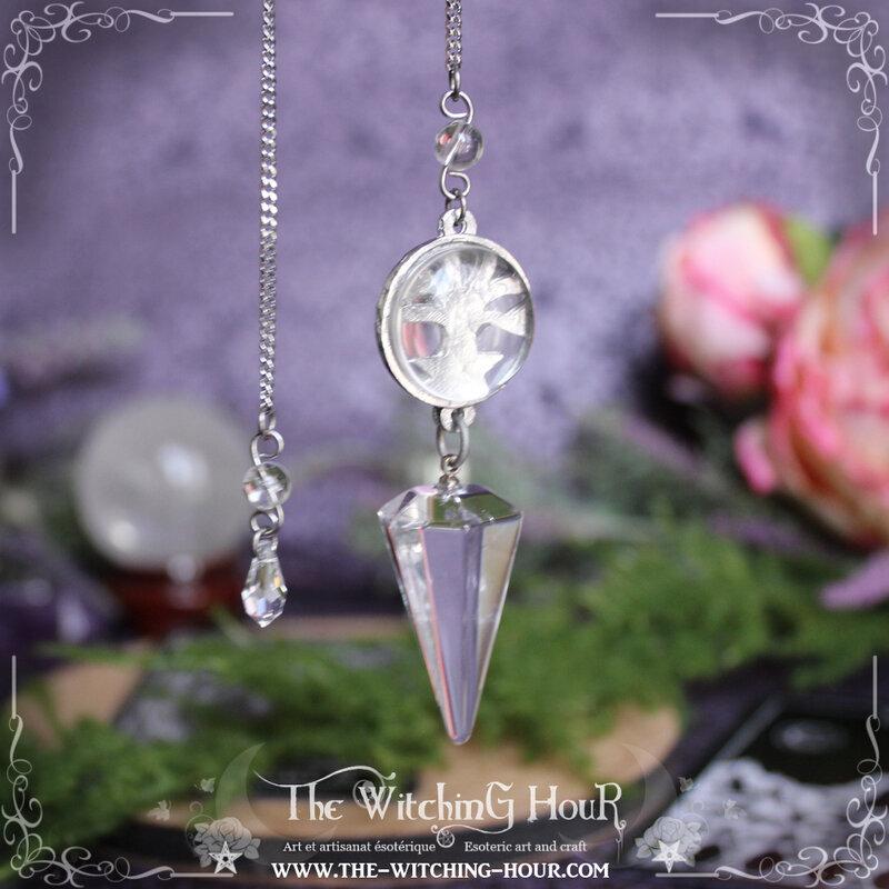 Pendule arbre de vie en cristal de roche