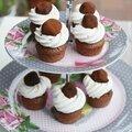 Mini cupcakes avec truffes au chocolat