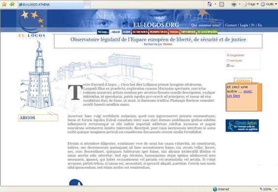 Le phare sur le site de EU-Logos