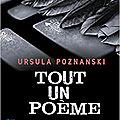 Tout un poème, par ursula poznanski