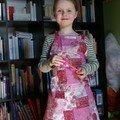 Un tablier style patchwork mais surtout rose pour zubialette