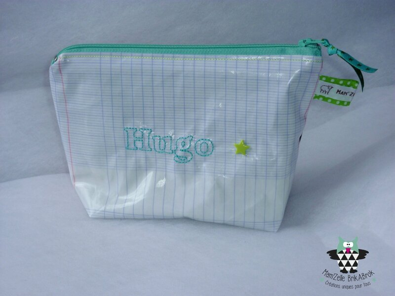 Trousse Ecolier HUGO recto