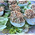 Oeufs mimosa au crabe ( 102 cal/ par personne)