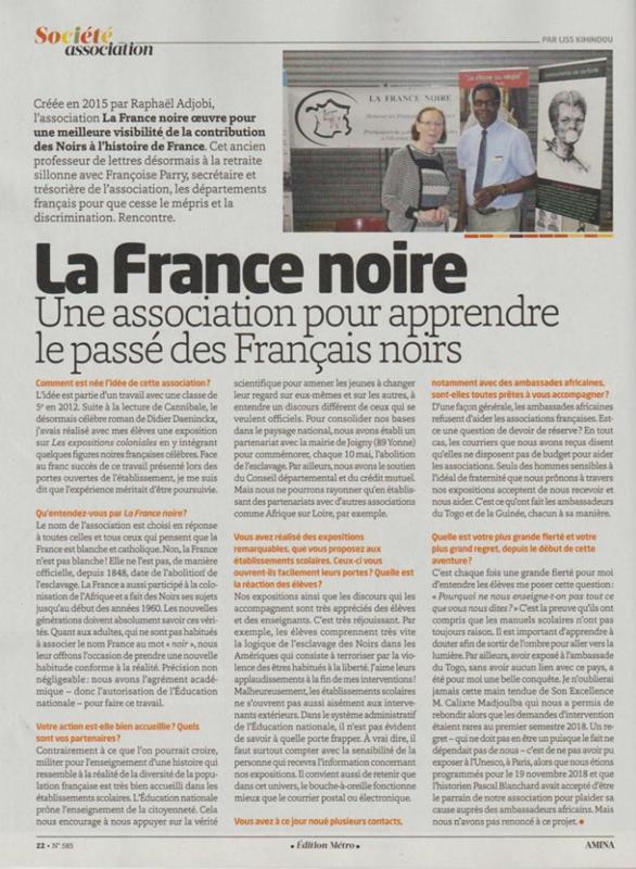 La France noire dans AMINA