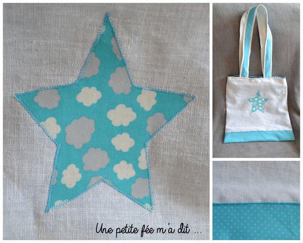 sac_couture_cabas_fourretout_étoile_blanc_turquoise