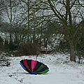 Parapluie et neige