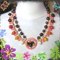 collier ethnique hibiscus