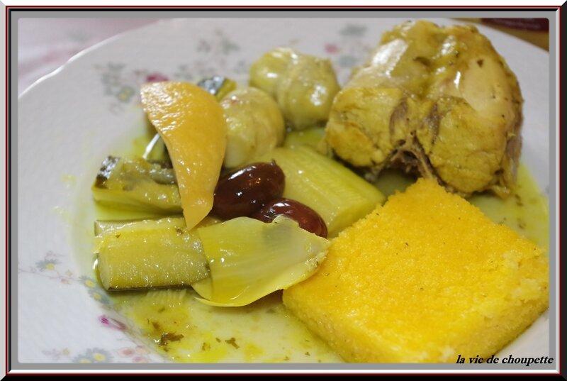 Tajine de lapin, olives et artichauts-7513