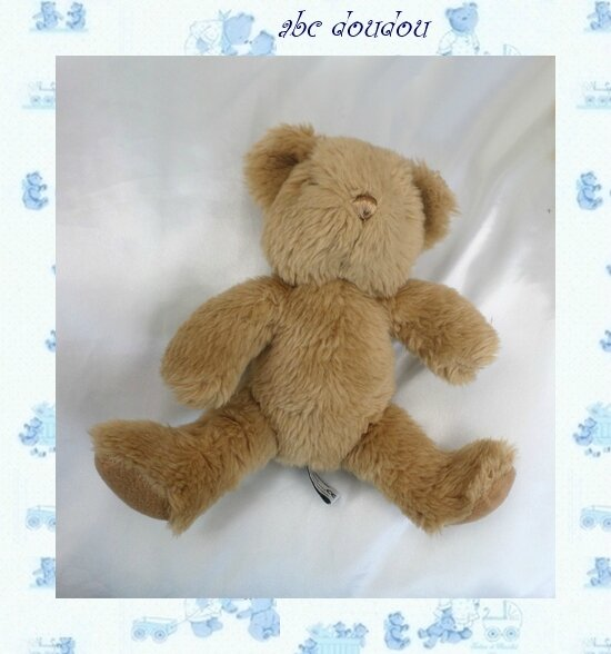 Doudou Peluche Ours Assis Marron The Teddy Bear Collection