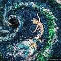 22 mars: la journée internationale de l'eau - série photo de b. von wong de sirènes au milieu d'une mer de plastique...