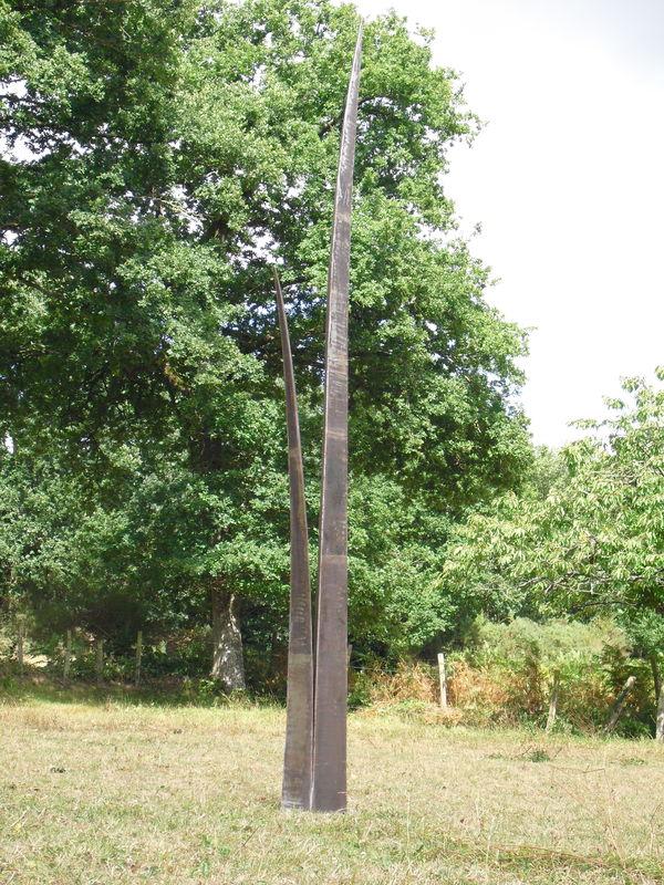 Les herbes folles-2010-ACIER-HT : 318 cm-DISPONIBLE