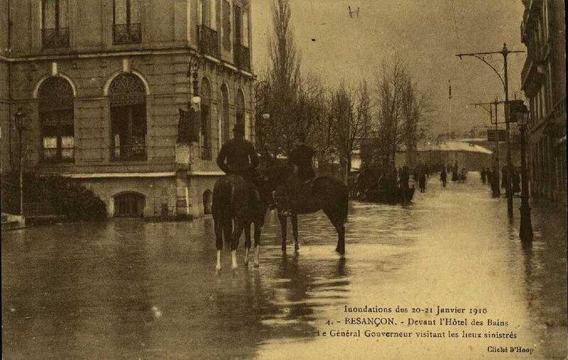 inondations 1910 hôtel des Bains 3