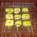 rouleaux de concombre
