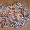 Culotte BIANCA en coton blanc imprimé papillons multicolores - noeud ciel (1)
