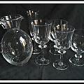 Services en cristal Daum Saumur et Beaune