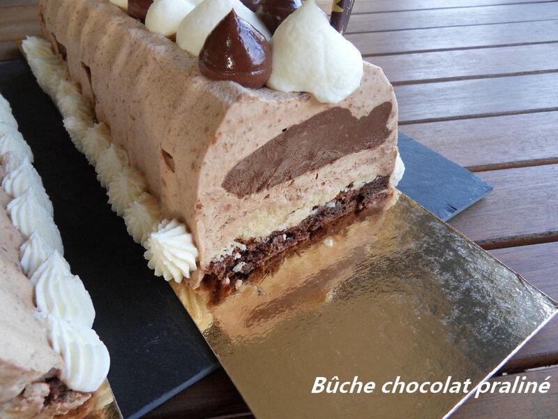 bûche chocolat praliné2