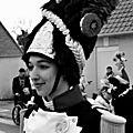 Charlotte ii tambour major du carnaval de warhem en noir et blanc