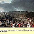 Le 16 avril 1790 à mamers : fête de la fédération.
