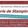 La féerie de promotions de stampin'up