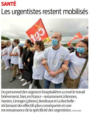 2019 05 29 SO Les urgentistes restent mobilisés