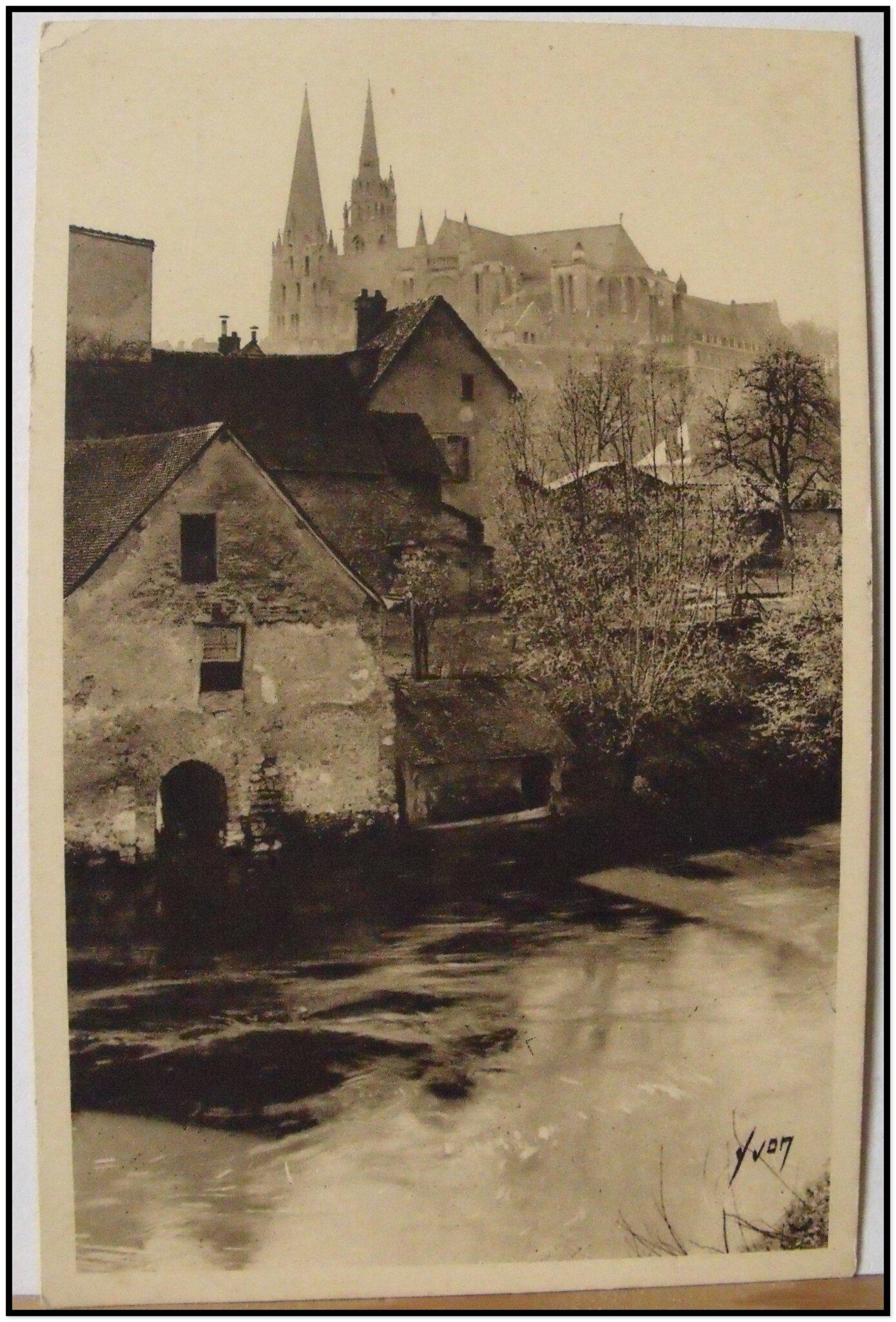 Chartres - matinée de printemps sur les bords de l'Eure