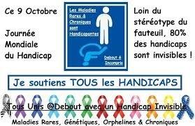 """Résultat de recherche d'images pour """"journée mondiale du handicap 9 octobre"""""""
