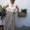 Une robe longue bruyère