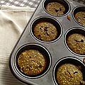 Muffins à la citrouille au millet et pepites de chocolat au lait
