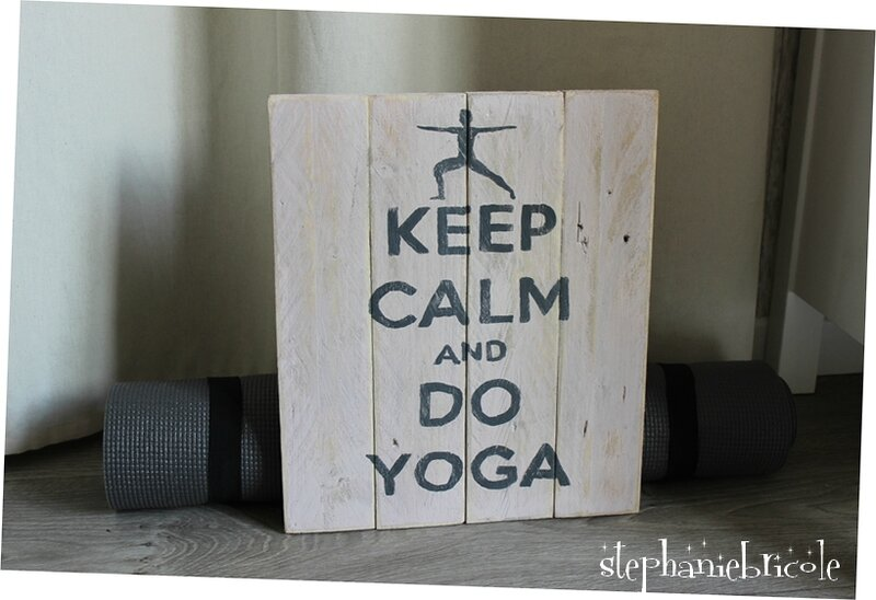 keep calm yoga deco