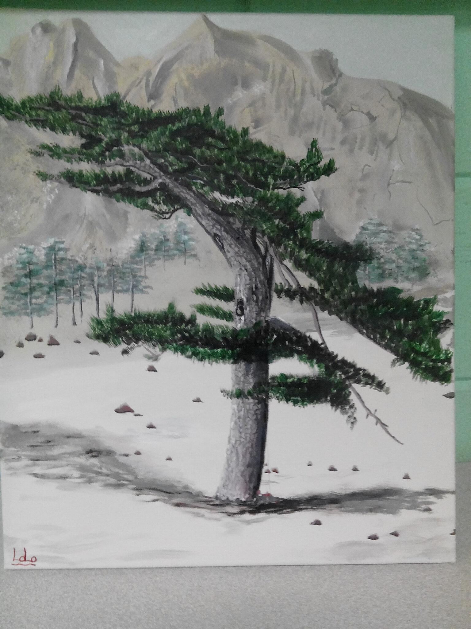 Paysage, 5 ème partie et fin de ce tableau   Peinture plaisir à ...