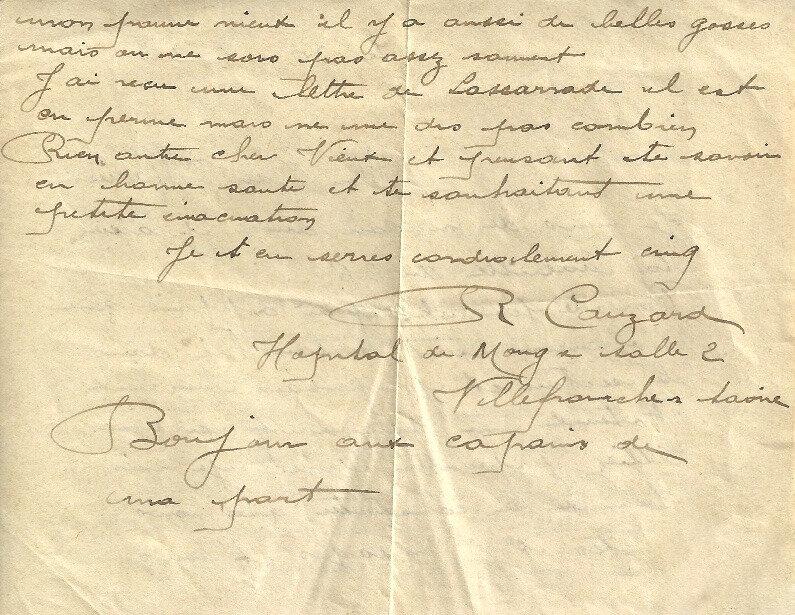 lettre de Cauzard à Marius Granjon, 30 août 1918 (4)