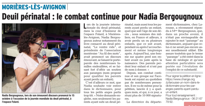 ARTICLE DAUPHINE VAUCLUSE 25 12 2016