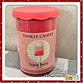 Bougie yankee candle triple berry