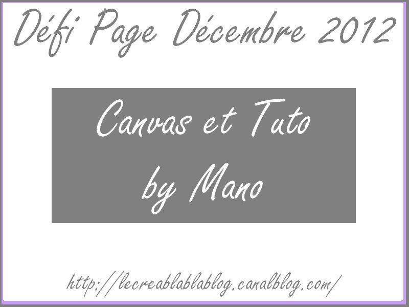 Défi Page Décembre 2012