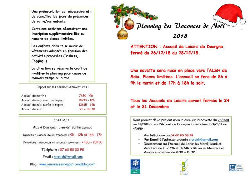 Page de garde Noël 2018
