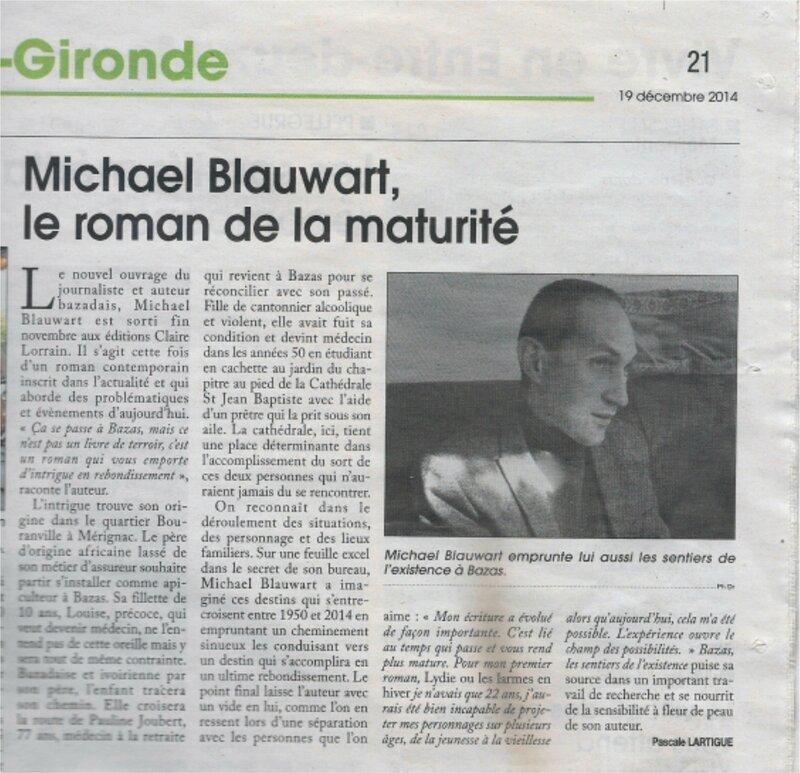 Le Courrier de Gironde le 19 décembre 2014