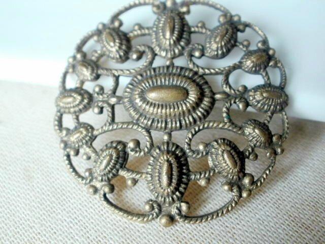 bouton vintage fileté acier
