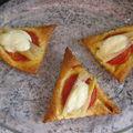 Triangles aux tomates fraîches et asperges