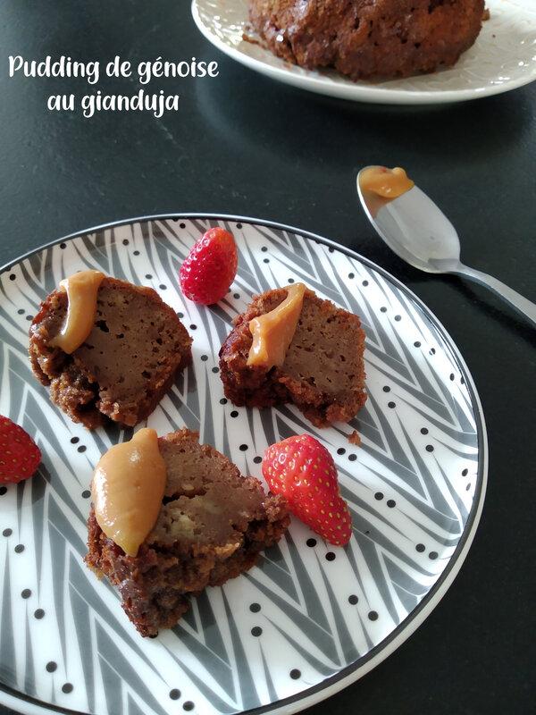 pudding de génoise au gianduja