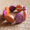 Bracelet Bollywood - Spirales rose orange - 8€