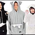 japan trend shop sweat capuche mewgaroo 1