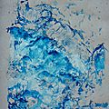 blue monotype