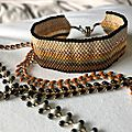 Manchette automnale et ses petits bracelets :)