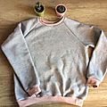 [couture] sweat rosy grey d'ottobre