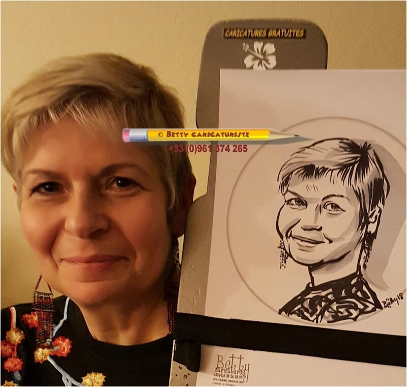 caricature blonde animation caricaturiste noel