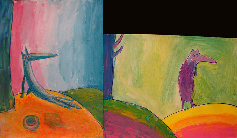 loup peinture 3